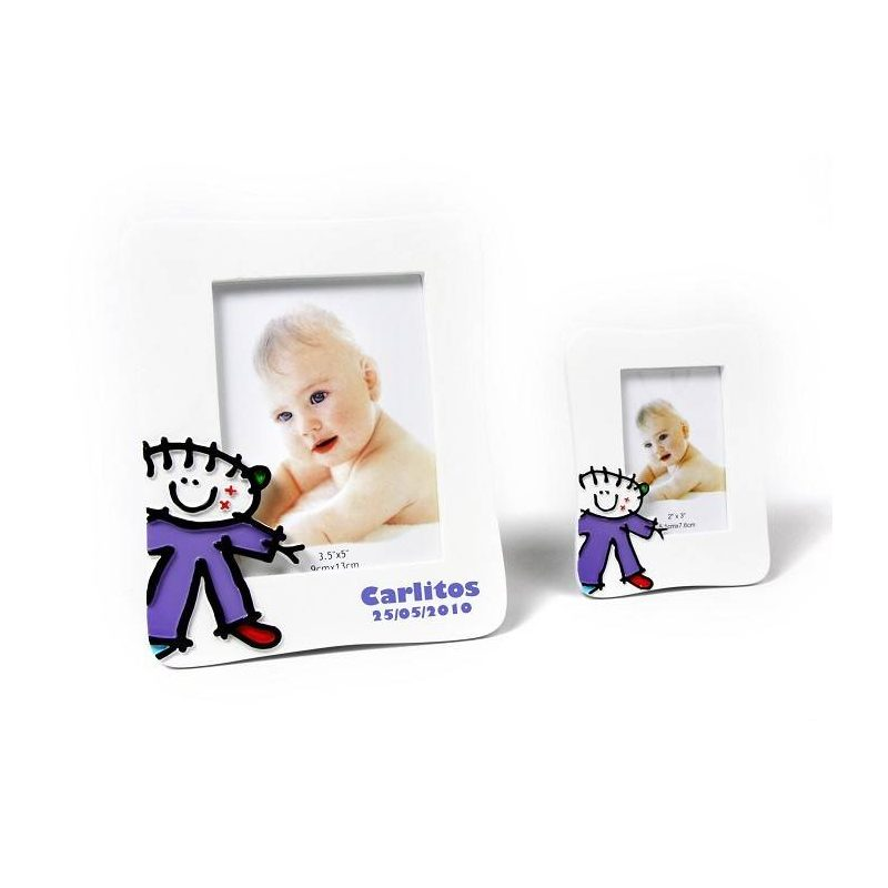 Portafotos Niño para Detalles de Bautizo