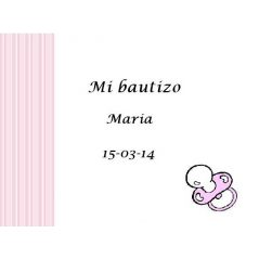 Tarjeta Chupete Rosa
