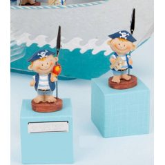 Portafoto Comunion Pirata Caja Azul
