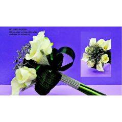 Ramo Calas y Rosas Cinta Plata