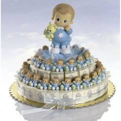 Tarta Cajitas Bebé Bracitos Celestes