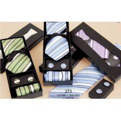Set Corbata+Pañuelo+Gemelos