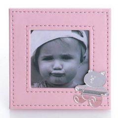 Portafotos Piel Rosa Bebé