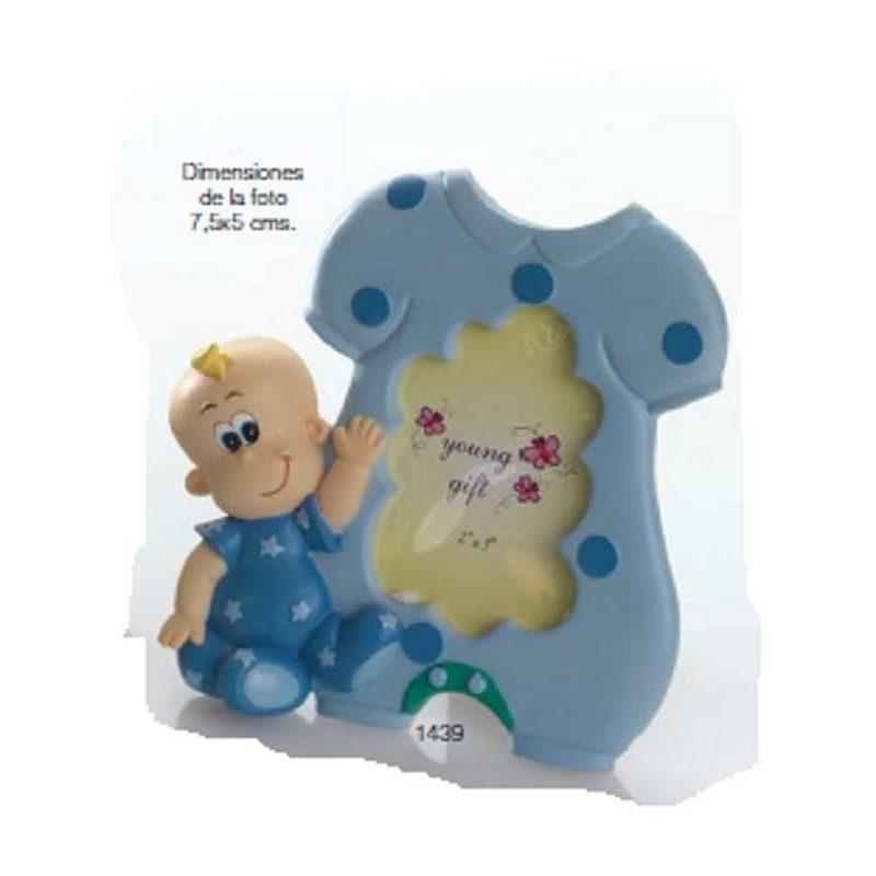 Portafoto Bebé Niño Pijama Azul