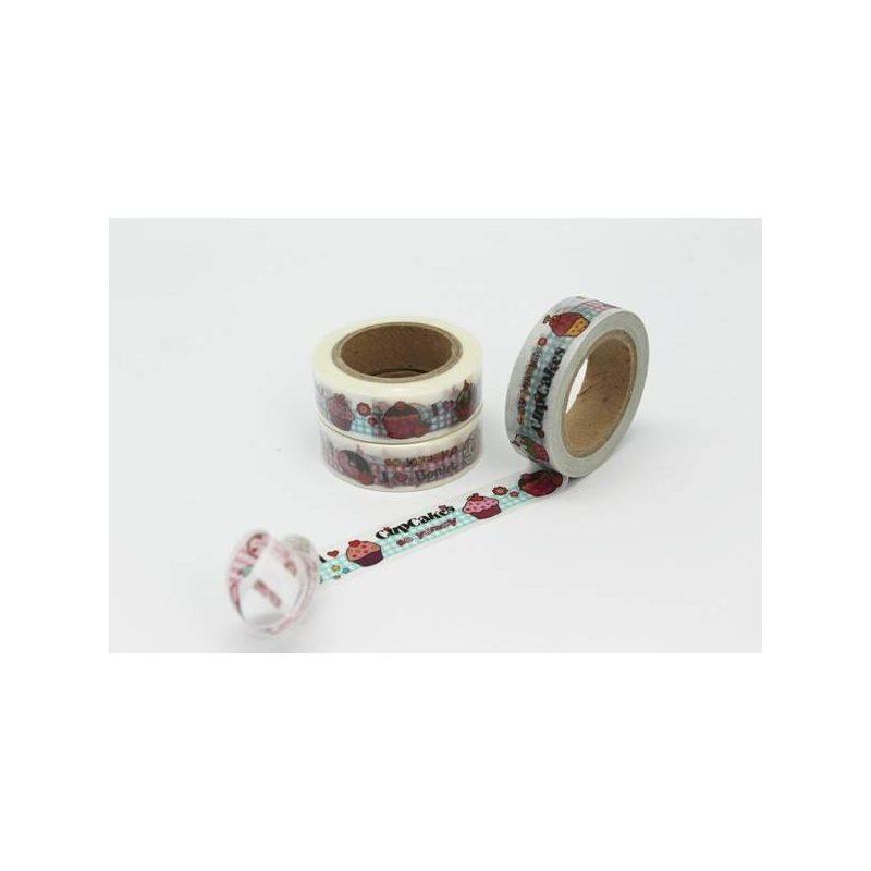Cinta Adhesiva Washi Tape Cupcakes