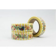 Cinta Adhesiva Washi Tape Pajaritos