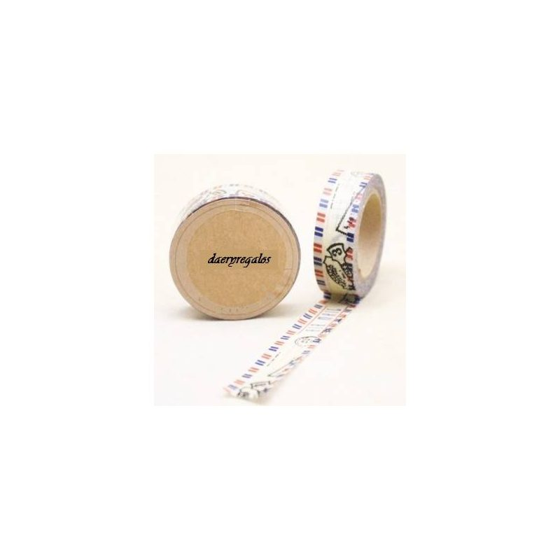 Cinta Adhesiva Washi Tape Post