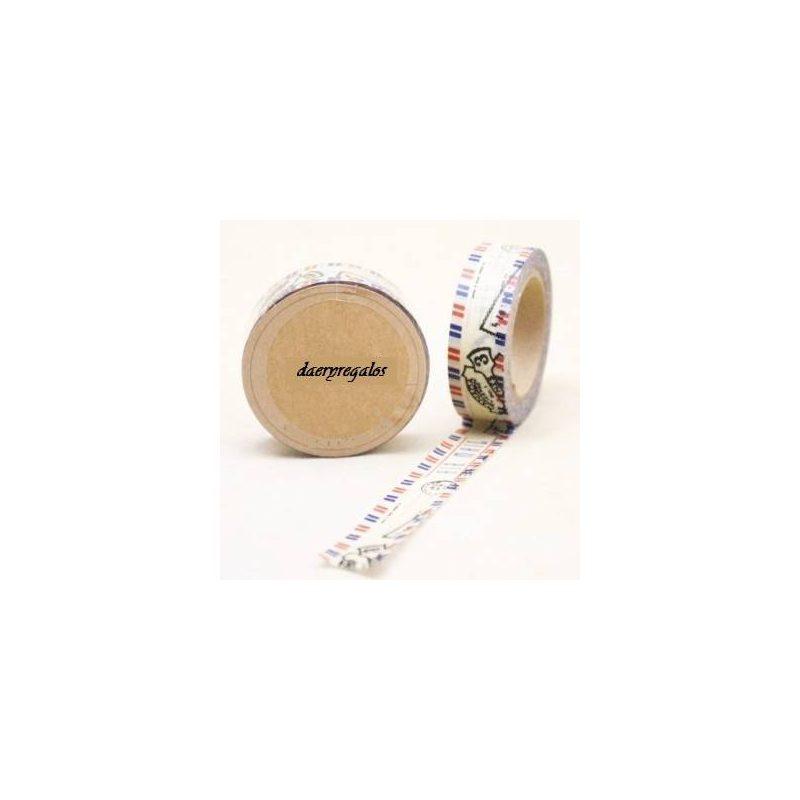 Cinta Adhesiva Washi Tape Post