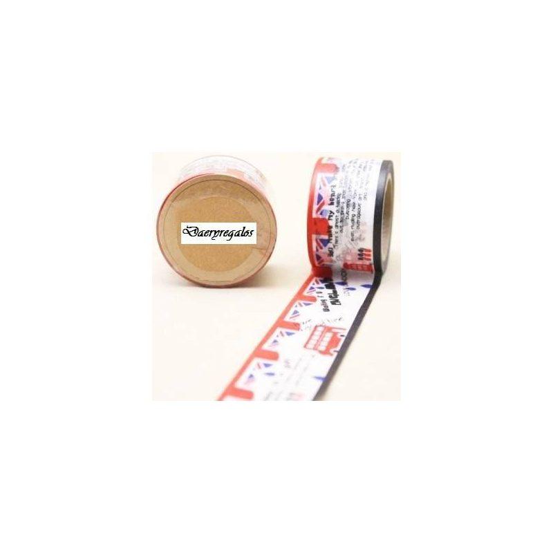 Cinta Adhesiva Washi Tape England