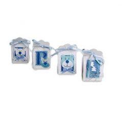 Set de 16 Cajitas Baby Azul