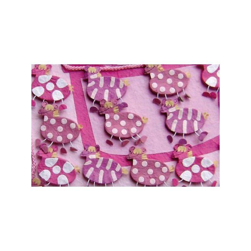 Set de 15 Cajitas Cebras Rosa