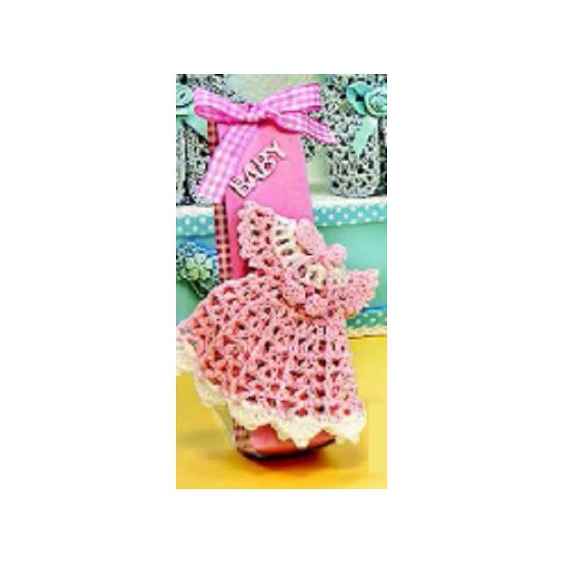 Vestido Rosa Crochet con Caja Caramelos