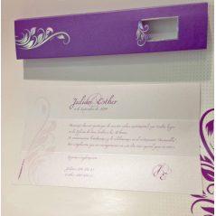 Invitación Cajita Lila Flores Iris
