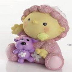 Hucha Bebé Gracioso Gorrito Rosa