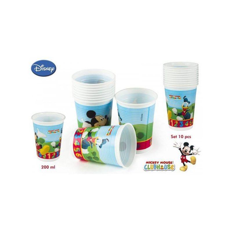 Pack 10 Vasos Mickey 200 ml
