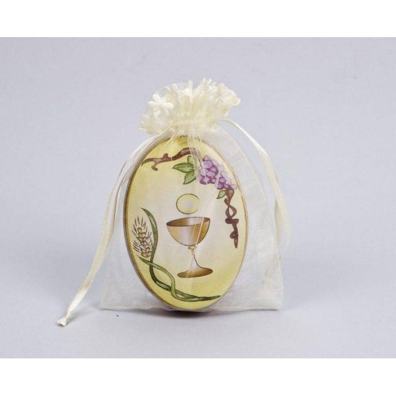 Lata Jabón Decorativa Cáliz en Bolsa de Organza