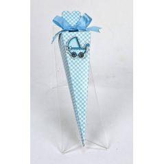 Cono Azul Cuadros y Pin Coche