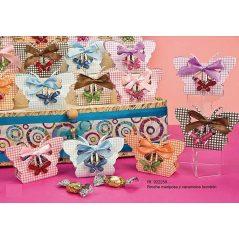 Broche Mariposa y Caramelos Bombon