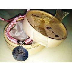 Pulsera Trenzada Medalla Angel de la Guarda Rosa en Caja
