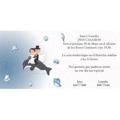 INVITACION NOVIOS DELFIN