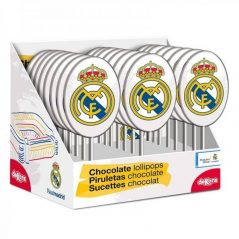 PIRULETAS CHOCOLATE SILUETA REAL MADRID