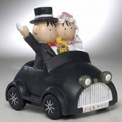 Muñecos Tarta Boda coche