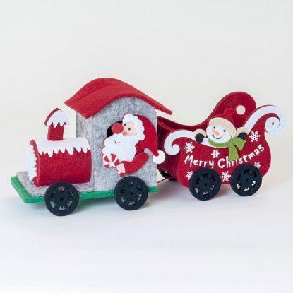 Tren Fieltro Navideño Detalles para Navidad