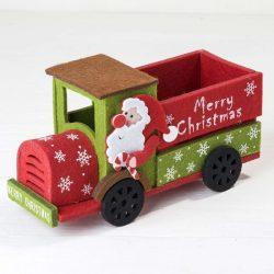Camión Fieltro Papá Noel Detalles para Navidad