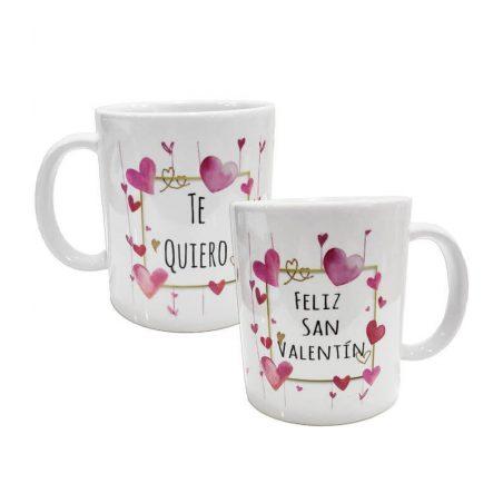 Taza Feliz San Valentin Regalos Originales | Detalles Niñ@s | Otras5,14 €