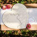 Puzzle de Firmas Madera Corazón