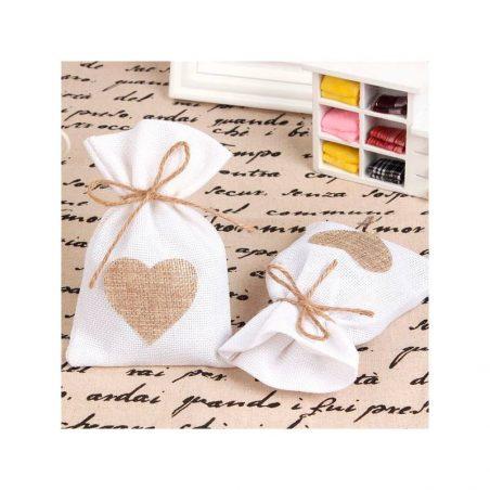 Bolsas de Yute Personalizadas Corazón