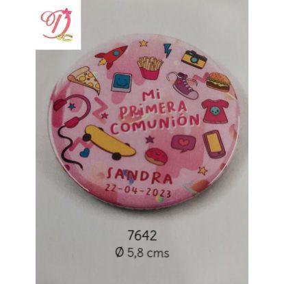 Chapa Niña Rosa Personalizada Comunión Detalles de Comunión0,81 €
