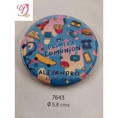 Chapa Niño Azul Personalizada Comunión Detalles de Comunión0,81 €