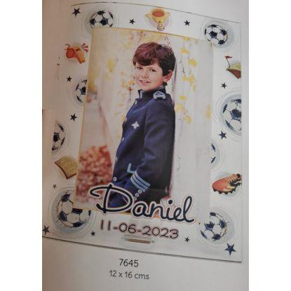 Portafotos Metal Fútbol Niño Personalizado Portafotos de Comunión4,50 €