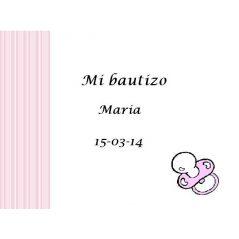 Tarjeta Chupete Rosa Tarjetas de Bautizo Gratis0,00 €