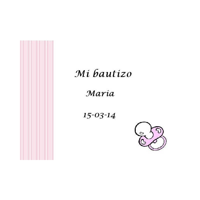Tarjeta Chupete Rosa Tarjetas de Bautizo