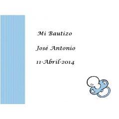 Tarjeta Chupete Azul Tarjetas de Bautizo Gratis0,00 €