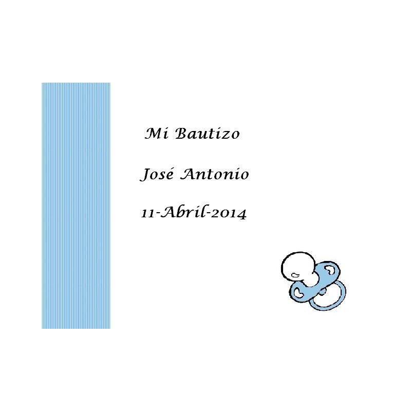Tarjeta Chupete Azul Tarjetas de Bautizo