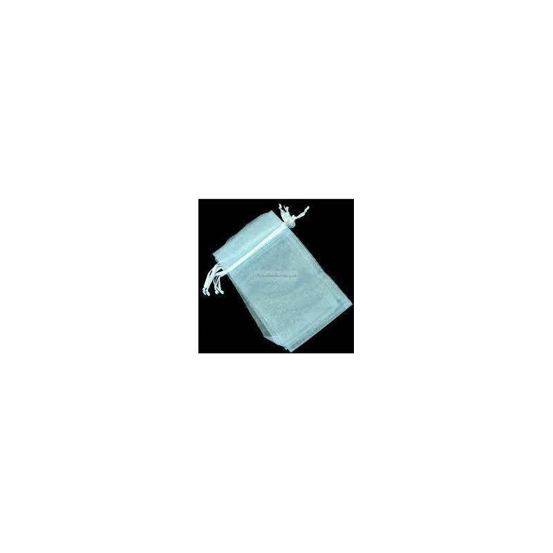 Bolsa de Organza Celeste 10x 7,5