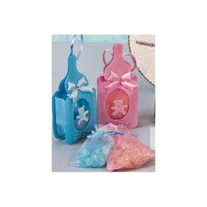 Colgante Biberón Rosa con Sales Aromáticas Inicio
