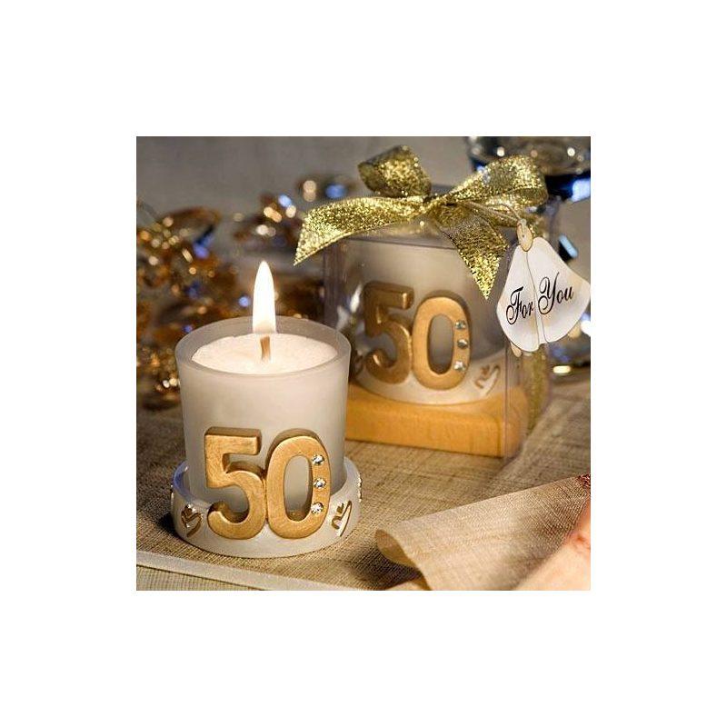 Vela Boda 50 Aniversario en caja de regalo