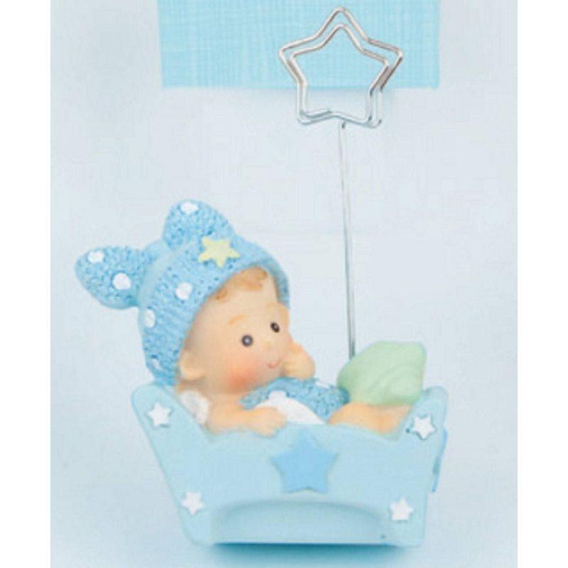 Portafotos Baby Cuna Azul Inicio