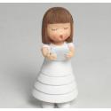 Figura Pastel Comunión Niña Cabello Liso Inicio