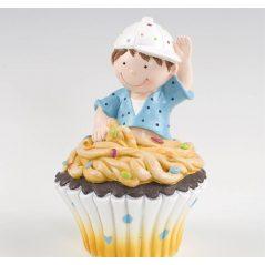 Figura Pastel Hucha Cupcake Niño