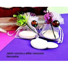 Jabón Concha con Alfiler Comunión Decorado