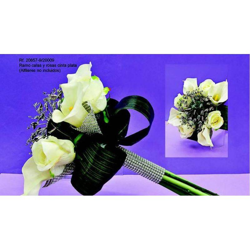Ramo Calas y Rosas Cinta Plata Inicio24,75 €
