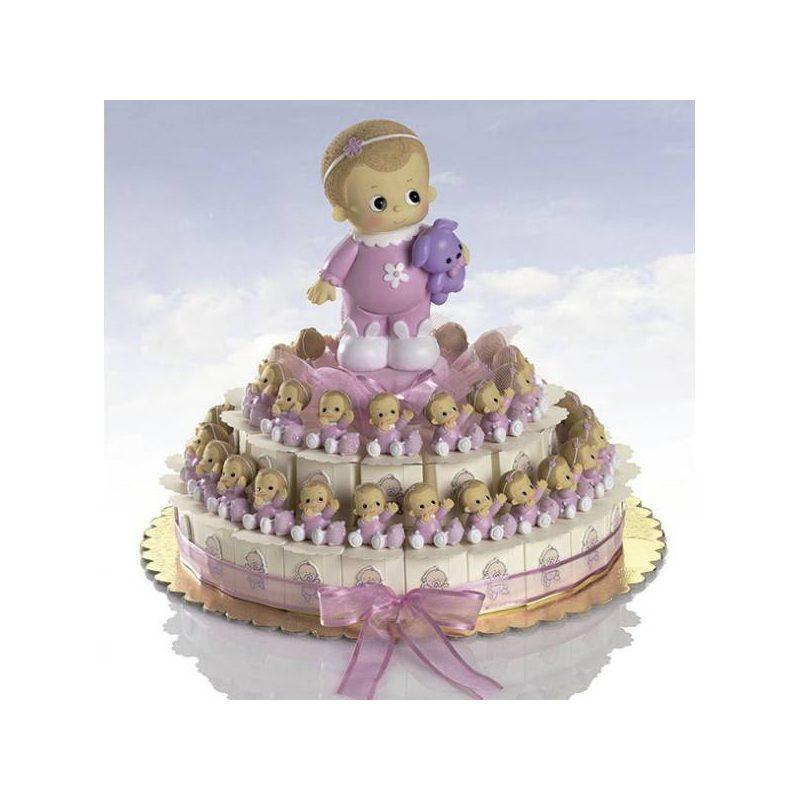 Tarta Cajitas Bebé Diadema Rosa Inicio84,30 €