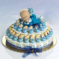 Tarta Cajitas Bebé sobre Animalito
