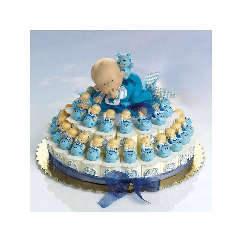 Tarta Cajitas Bebé sobre Animalito Inicio