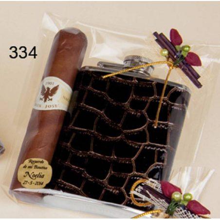 Petaca de Cuero con Puro de Chocolate Inicio5,17 €